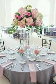 Silver Wedding Centerpieces by Light Pink Silver Platinum And Ivory White Okay For The Summer
