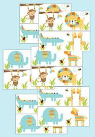 safari nursery decor decal wallpaper border boy by decampstudios