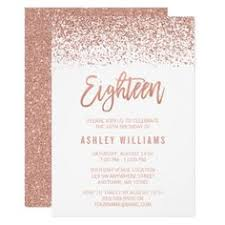 faux rose gold geometric lines birthday party invitation http