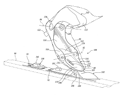 patent us20080047168 nordic ski boot support and attachment