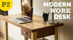 Diy Wood Desk Diy Modern Style Desk How To Build