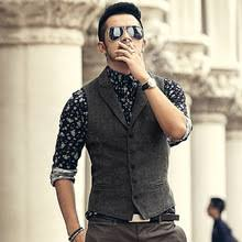 online get cheap casual dress vests for men aliexpress com