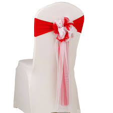 chair ribbons wedding chair ribbons organza band for chair 2017 new design two