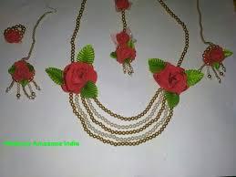 necklace flower handmade images Amazane india handmade designer moti golden flower red necklace jpeg