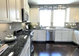Light Grey Kitchen Cabinets White Kitchen Cabinets With Gray Granite Countertops White Kitchen