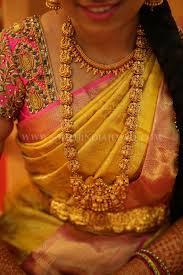 bridal bracelet gold images South indian bride in gold temple haram vadanam pinterest jpg