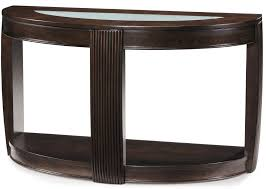Magnussen Sofa Table demilune console table w glass insert by magnussen home wolf