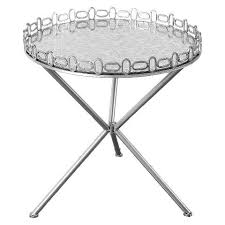 round silver accent table mirrored silver accent table with etched top