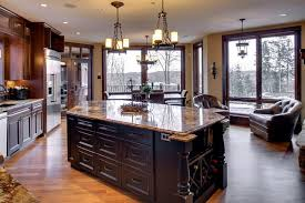 distressed black kitchen island traditional kitchen - Distressed Black Kitchen Island