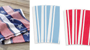 sur la table kitchen towels patriotic home decor under 50 american flag inspired home goods