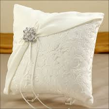 wedding pillows ring bearer pillow with brooch using material from my wedding