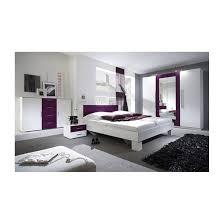 chambre adultes compl鑼e chambre complète vera blanc et violet chambre adulte complète