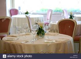 Elegant Table Settings by Elegant Table Setting In Classy Restaurant Stock Photo Royalty