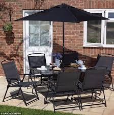 Black Glass Patio Table Glass Garden Patio Table Patio Furniture Conversation Sets