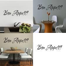 online get cheap bon appetit wall stickers aliexpress com zooyoo 1pc vinyl wall stickers quote bon appetit dinning room decor kitchen decals art diy