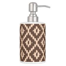 Peach Bathroom Accessories ikat bath accessory sets zazzle