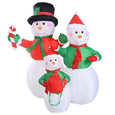 4ft snowman family decor lighted