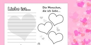 valentine u0027s worksheet german german worksheets