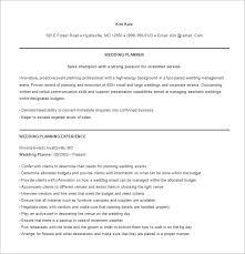 how to be a wedding coordinator wedding coordinator resume tomyumtumweb