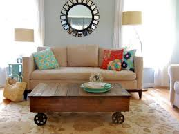 Rolling Coffee Table Build A Factory Cart Coffee Table Hgtv