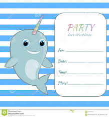 free rainbow birthday invitations children birthday party invitation card template baby narwhal with