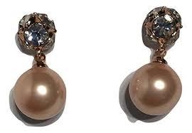 earrings new york kate spade pearl new york marmalade gold earrings tradesy