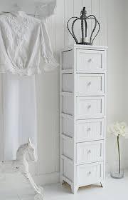 White Bedroom Chest - maine slim tallboy chest of 6 drawers white bedroom storage
