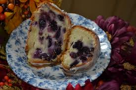 blueberry sour cream pound cake with lemon drizzle cooking with