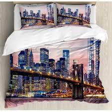 New York Bed Set New York City Bedding Sets Wayfair