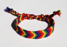 friendship bracelet rainbow images Rainbow chevron pattern friendship bracelet by eggmonkey jpg