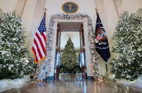 melania trump unveils annual white house christmas decorations