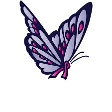 logo design butterfly cancer ribbon