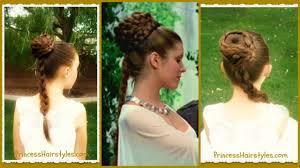 princess leia hairstyle spiral braid ceremony updo star wars