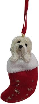 havanese ornament with santa s