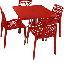 Supreme Dining Chairs Buy Supreme Red Plastic Table U0026 Chair Set Finish Color Red From