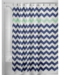 sweet deal on shower curtain interdesign chevron navy mint blue