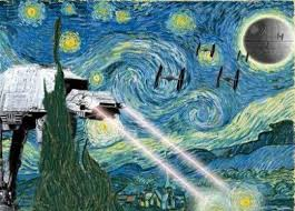 Starry Night Nuit Etoilee Very - starry night parody star wars parody famous artart it things