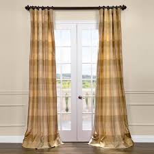 Textured Cotton Tie Top Drape by Plaid Curtains Designer Curtains Half Price Drapes