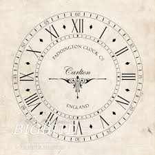 water decal print transfer u2013 old clock face 068 shabby chic