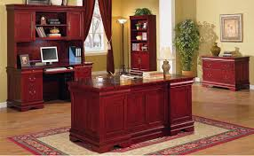 home office furniture wood cherry classic office desk w storage drawers
