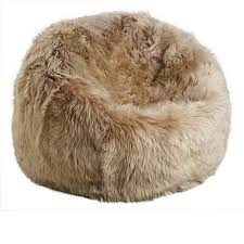 large long wool sheepskin beanbag furnish every season