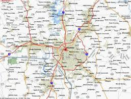 North Carolina Map Map Of Charlotte Nc And Surrounding Area Charlotte Nc Map Of