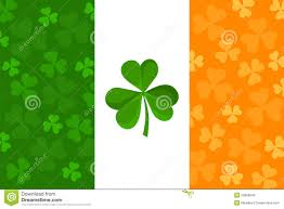 irish flag with shamrock pattern vector stock vector image