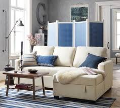 Sectional Pottery Barn Soma Bryant Upholstered Sofa With Storage Chaise Sectional From
