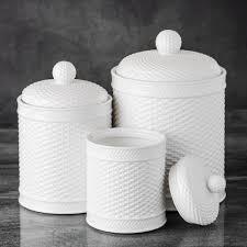 basket weave canister set set of 3 61292 the home depot