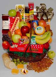 gourmet basket large fruit gourmet basket colonial flower shop