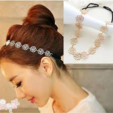 flower bands fashion women flower design hair bands headband rubber band
