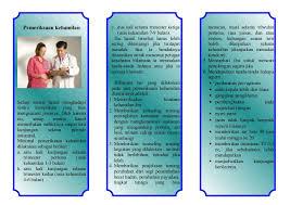 leaflet pemeriksaan ibu hamil