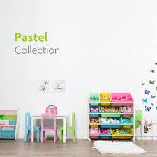 4 Tier Toy Organizer With Bins Tot Tutors Pastel Collection White Pastel Toy Storage Organizer