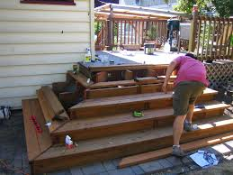 cascading deck stairs home design ideas and pictures